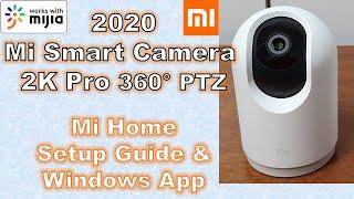 Xiaomi Mi Smart Camera PTZ 2K Pro Setup Review MJSXJ06CM | Unboxing