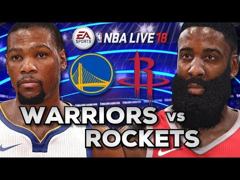 NBA Live 18 Gameplay   Warriors vs Rockets