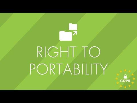 GDPR - Right to Portability