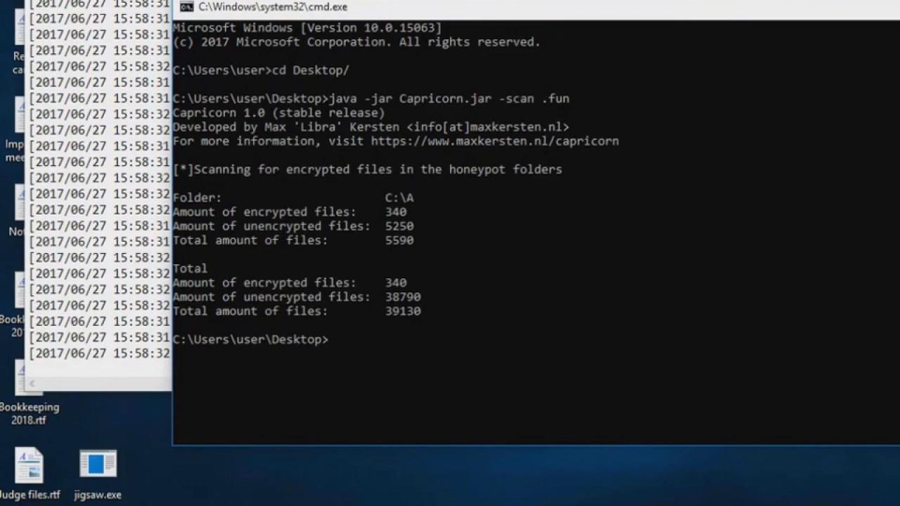 Capricorn | Anti-ransomware tool | Jigsaw ransomware sample test ...