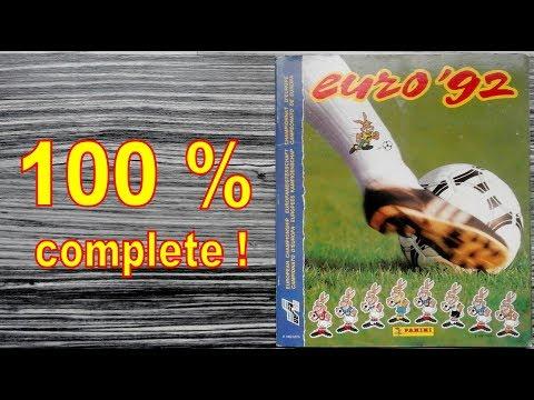 """Panini Album UEFA """"Euro 92"""" Sweden - 100 % COMPLETE / FULL"""