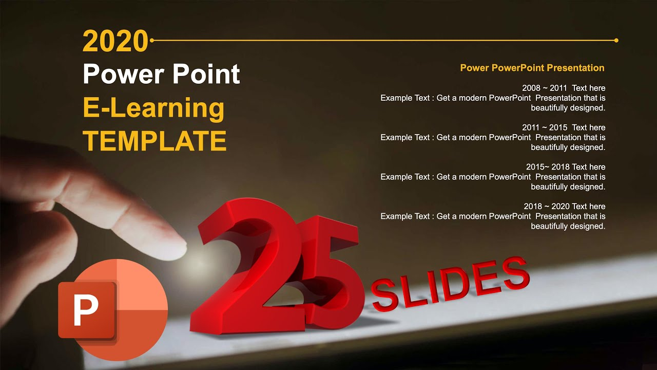 E Learning Powerpoint Template 2020 Free Download 25 Slide Youtube