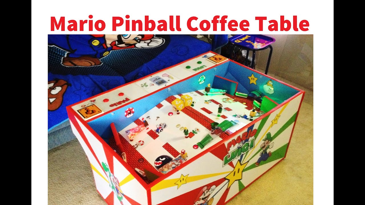 Mario Bros Pinball Coffee Table
