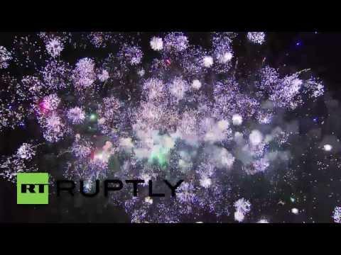 Russia: Fireworks burst in Sevastopol after Crimea is declared Russian