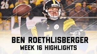 Ben Roethlisberger's Clutch Performance! | Ravens vs. Steelers | NFL Week 16 Player Highlights