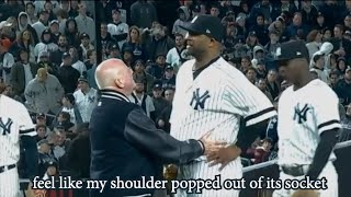 CC Sabathia dislocates his shoulder and tries to stay in the game, a breakdown