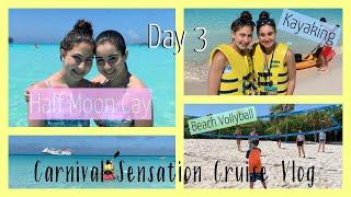 Half Moon Cay! Beach Volleyball, Kayaking, Hasbro Game Show | Carnival Cruise Vlog 2019