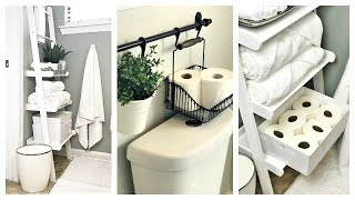 NEW! Small Bathroom Organization Ideas | Ladder Shelf Storage