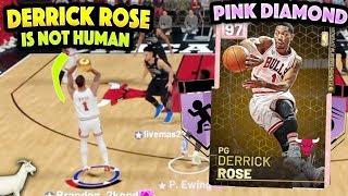 PINK DIAMOND DERRICK ROSE IS NOT HUMAN!! HE DUNKS EVERYTHING!! NBA 2K19