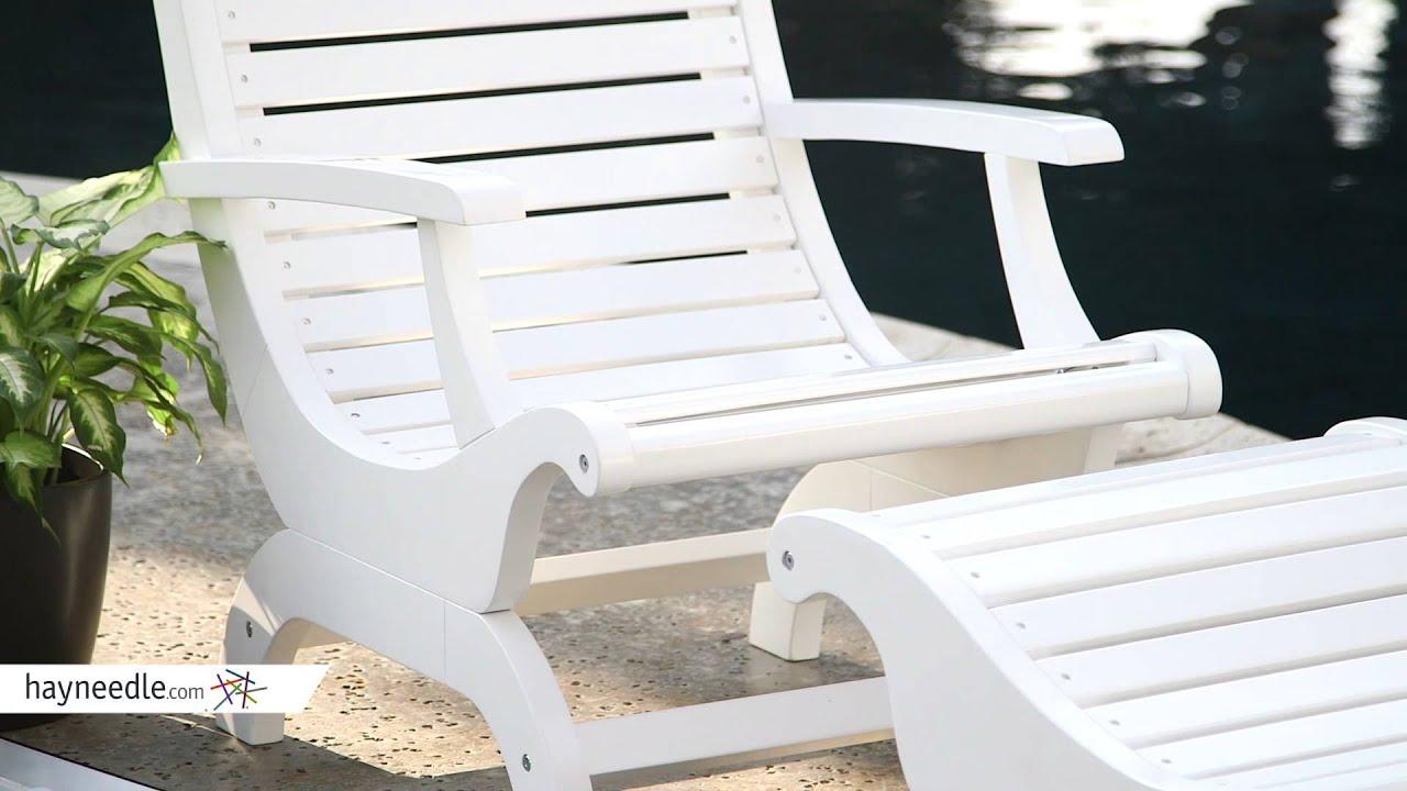 Belham Living Avondale Adirondack Chair And Ottoman   White