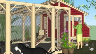 L100 - Chicken Coop Plans Construction - Chicken Coop Design - How To Build A Chicken Coop