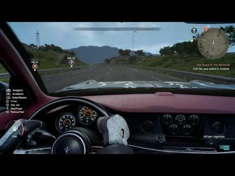 Final Fantasy XV - How To Purchase a Portable MP3 PLayer While Driving The Regalia Gameplay Sequence