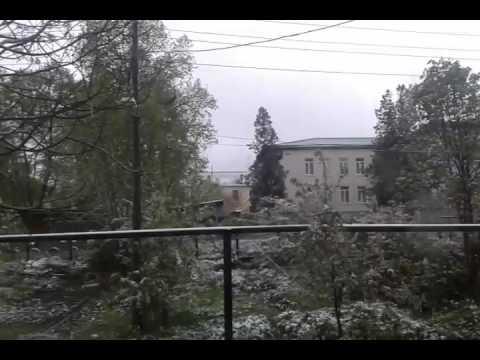 Снег в Крыму - 19 апреля 2017 года.