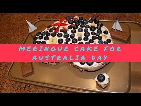 Meringue Cake (Pavlova) For Australia Day (Dairy & Dairy-Free Option)