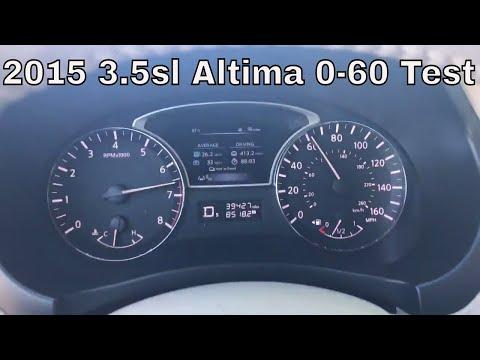2015 Nissan Altima  0-60 mph
