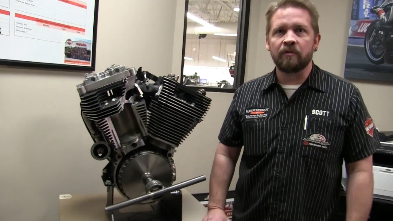 How A Harley Davidson Big V Twin Engine Works 103 Rod Diagram Cutaway View And Demo Youtube