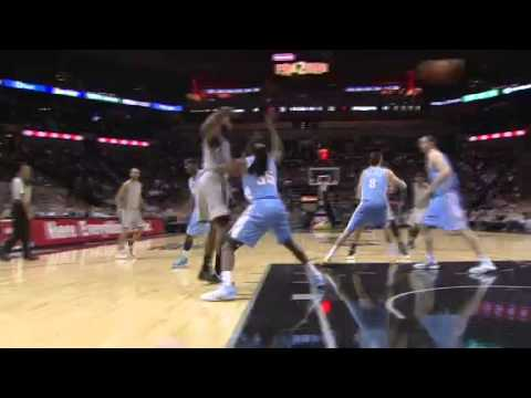 Green Flush   Denver Nuggets Vs San Antonio spurs   11/17/2012   NBA Season 2012/13