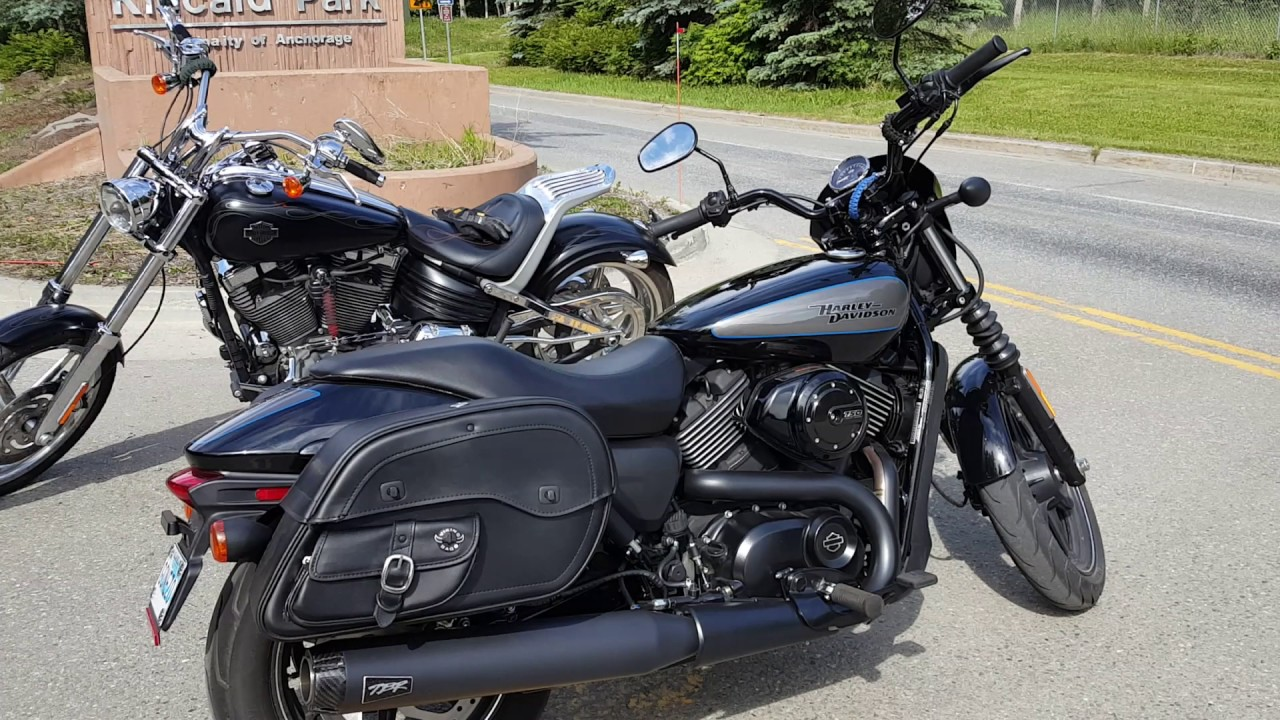 Harley davidson street 750 motorcycle saddlebags review youtube - Harley street 750 images ...