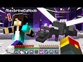 noob Girl fights ENDER DRAGON in Minecraft!