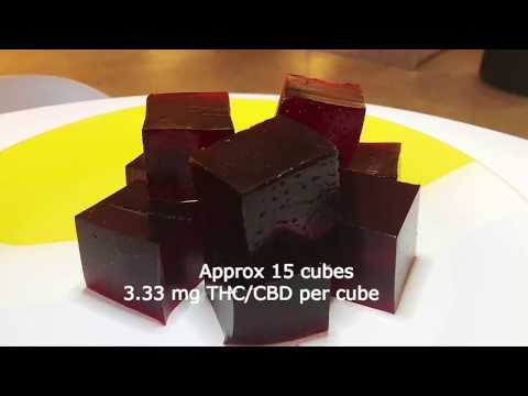 Easy Cherry Cola Cannabis Infused Jello Cubes / Shots