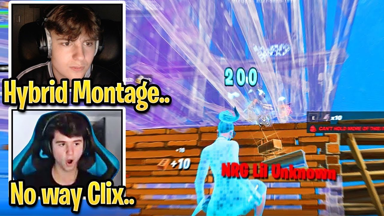"""Streamer Reacts to Clix Going FULL HYBRID MODE in """"End Of The World"""" Fortnite Montage"""
