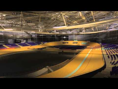 Animation of the Emirates Arena for Commonwealth games 2014 - Glasgow