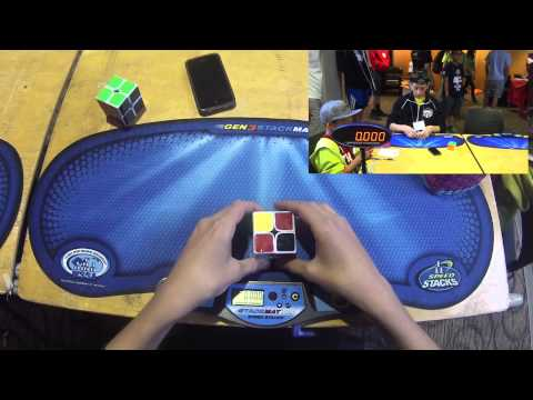 2x2 Cube Former WORLD RECORDS - 0.58 Single & 1.55 Average! - Rami Sbahi