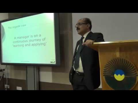 Mr. Lalit Pahwa, Business Head -  Escorts Auto Products speaking to IIM Shillong students