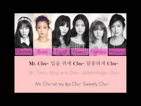 Apink-Mr. Chu (Hangul/Rom/Eng Lyrics)