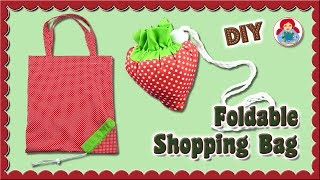 DIY | Foldable Shopping Bag 'Strawberry' • Sami Dolls Tutorials