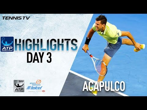 Watch Highlights: Thiem, Zverev And Del Potro Win On Wednesday In Acapulco 2018