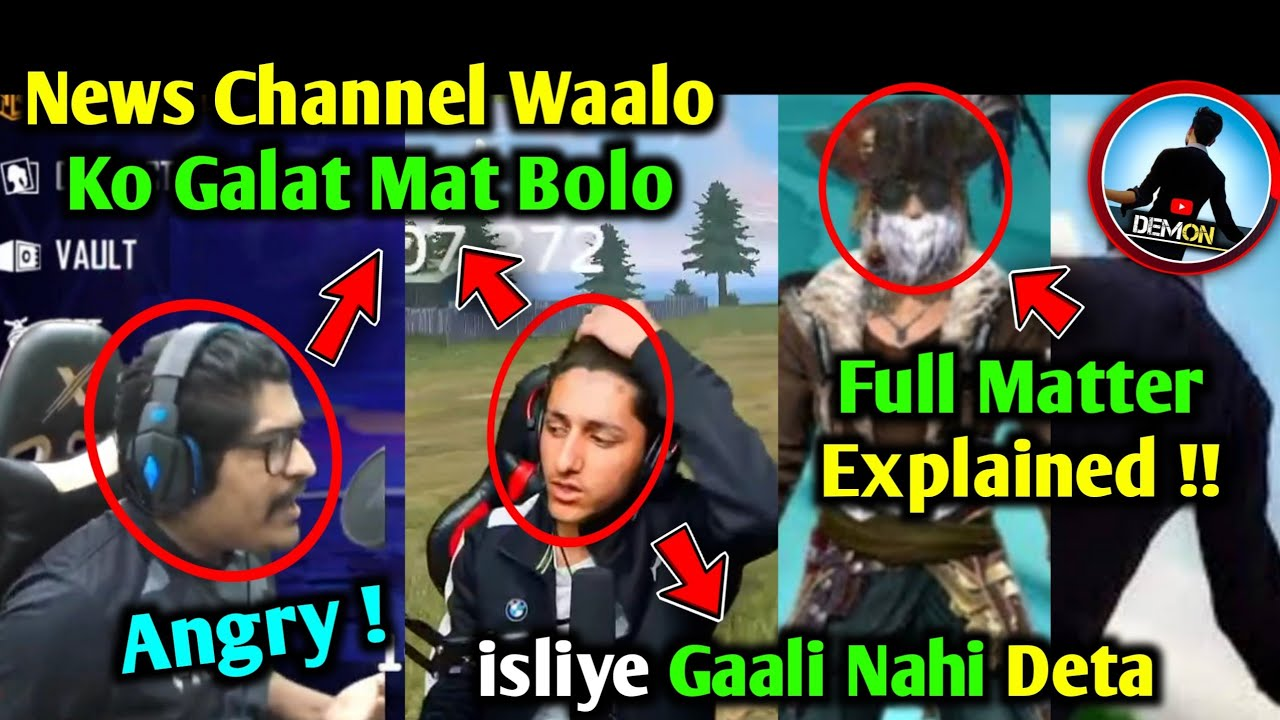 Total Gaming Revealed !! | Gyan Gaming & AS Gaming On News Channels | Demon Army Full Explanation !