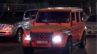 extrem matt orange G55 AMG Mercedes-Benz - JBR The Walk in Dubai Marina
