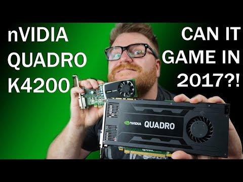 nVidia Quadro K4200 Review - Can It Game?!