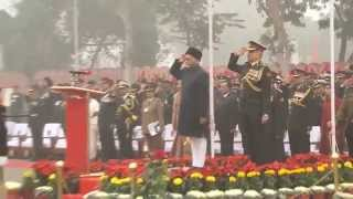 Vice President of India during National Anthem and National Song