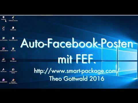 Auto-Facebook-Posten mit dem Smart Package Robot und FEF.