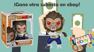 ¡Gané mi segunda subasta en ebay! + Unboxing Great Ape Vegeta Funko Pop