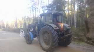 Forage transport with mtz 52