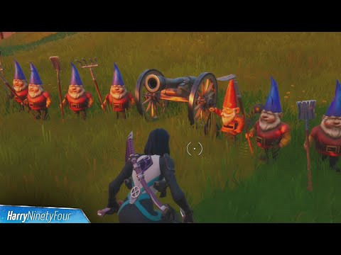 Drop Your Weapons Secret Challenge Guide (Disarm The Gnomes / Teddies Location) - Fortnite
