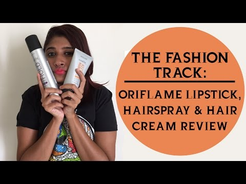 Oriflame Lipstick, Hairspray and Hair Cream Review