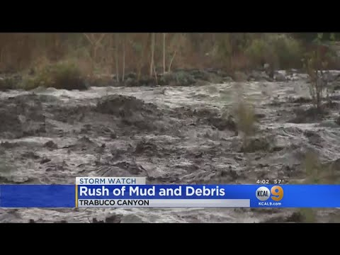 Heavy Rain Prompts Rush Of Mud, Debris In Holy Fire Burn Area