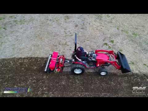 TS47 Compact Power Harrow with Mechanical Drop Seeder by R2 Rinaldi