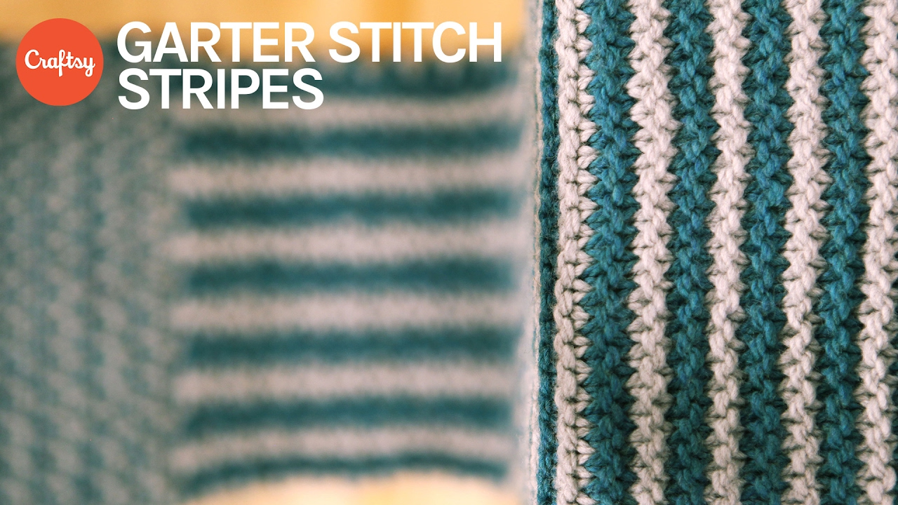 Garter Stitch Stripes | Simple Colorwork Knitting Tutorial with Anne ...