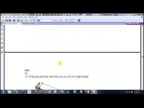 Physics 12 Work, Energy, and Power Tutorial 2014