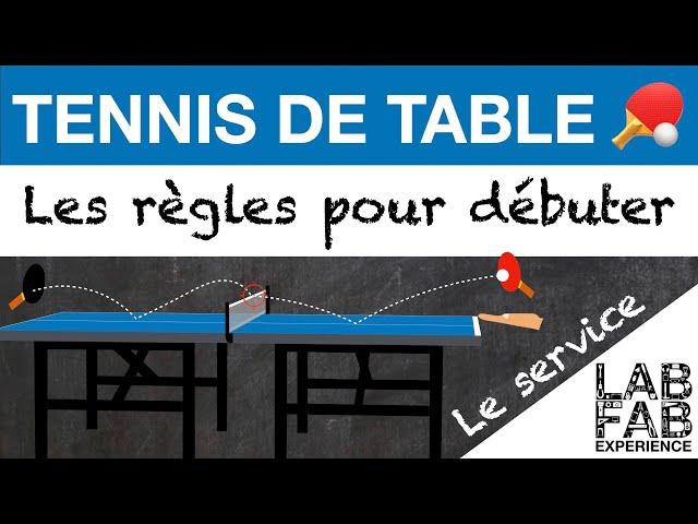 Tennis de table - Le service (L'essentiel des règles 1/4)