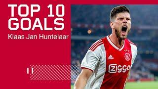 Klaas jan huntelaar scoorde tot nu toe 151 keer voor ajax. dit zijn 10 mooiste goals in amsterdamse dienst.#thehuntgoeson►subscribe now http://ajax.ms/s...