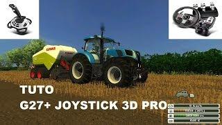 farming simulator 2013 configurer le volant G27 +  joystick EXTREME 3D PRO (tuto) LOGITECH