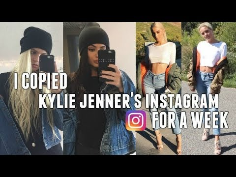 I COPIED KYLIE JENNER'S INSTAGRAM FOR A WEEK | Instagram Picture Ideas!!