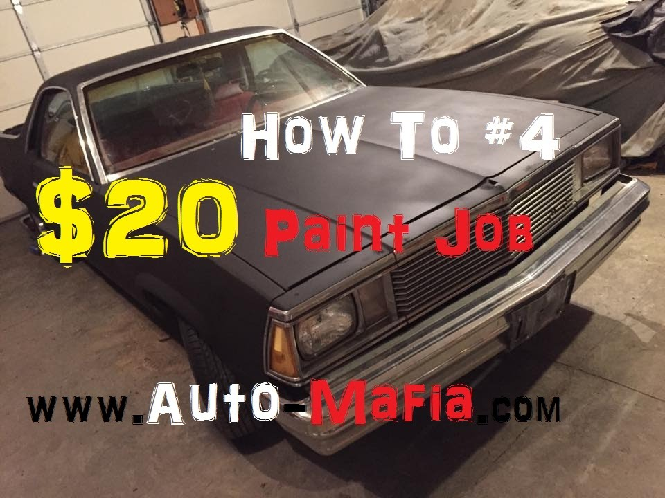 How Much Does It Cost To Paint A Car >> How To: The $20 Flat Black Paint Job Rustoleum and Acetone ...