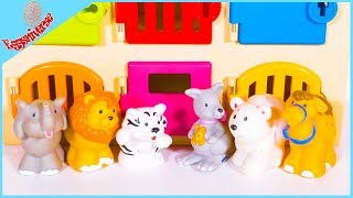 Learn the Zoo Animals sounds and names with Clinic Playset Video for Kids